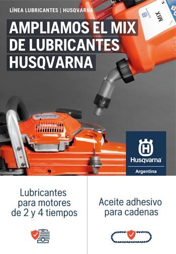 Husqvarna - Línea de lubricantes para motores 2T y 4T