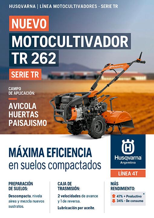 Husqvarna - Motocultivador TR 262