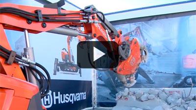 Robots Husqvarna Demolición en la expo World of Concrete