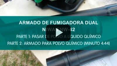 Armado de fumigadoras Niwa - Videotutorial con el modelo FNW-42 Dual