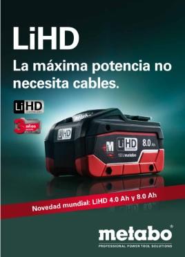 metabo LiHD máxima potencia no necesita cables