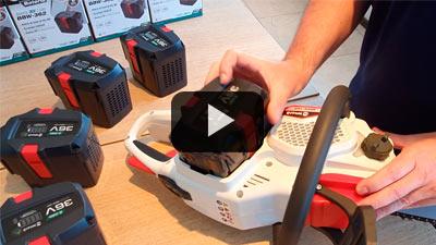 Colocación y extracción de baterías en equipos Niwa