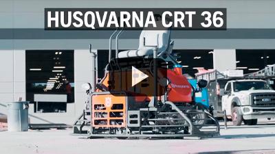 Allanadora doble de hombre a bordo Husqvarna CRT-36