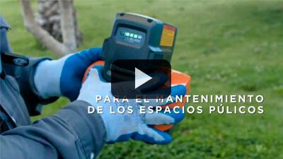Obras y Servicios Públicos Godoy Cruz y equipos Husqvarna a batería