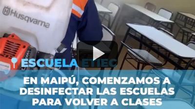 Husqvarna, cuidado sanitario, por la Municipalidad de Maipu, Mendoza