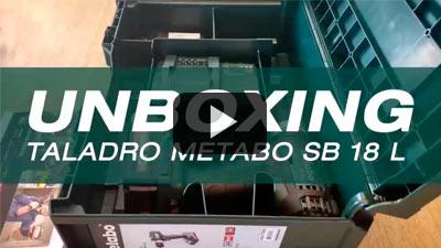 Unboxing del metabo SB 18 L, taladro/atornillador de percusión